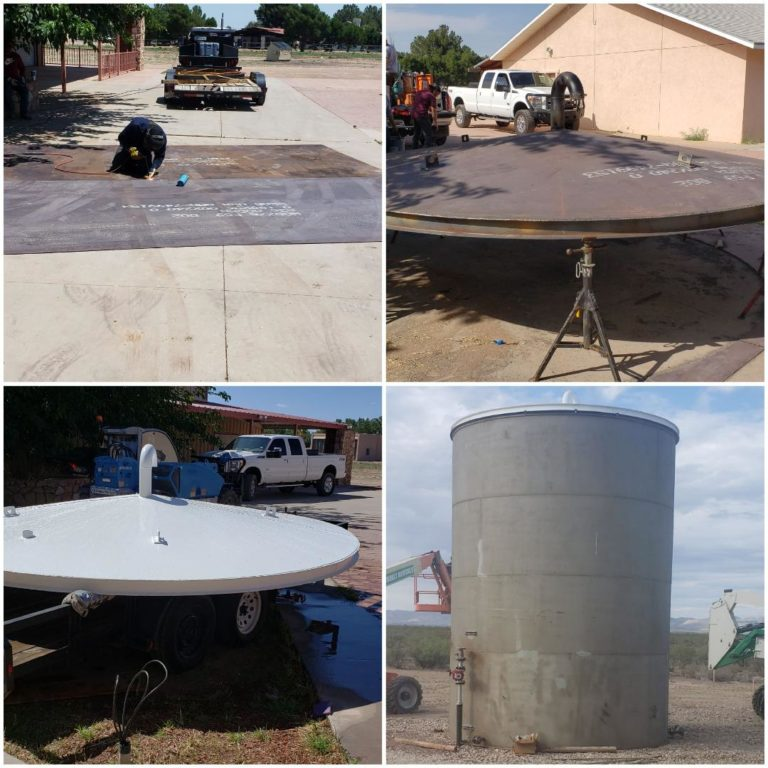 Texas EnviroBlast tank roof fabrication